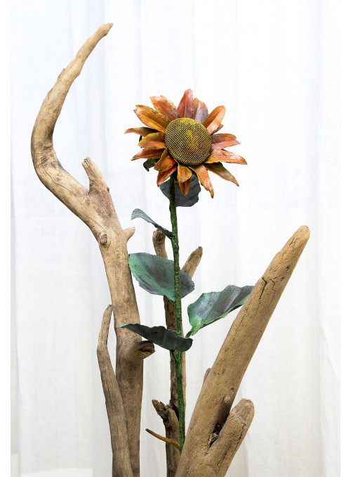 Wrought iron sunflower