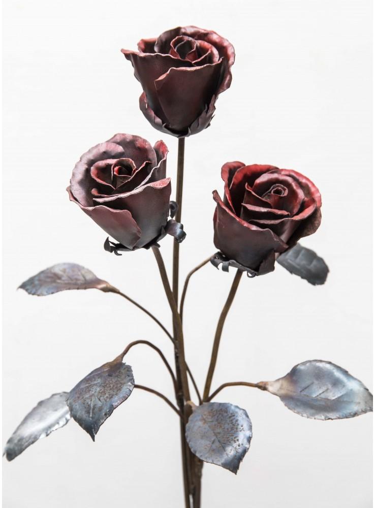 Rosa rossa in ferro battuto for Arredamento ferro battuto
