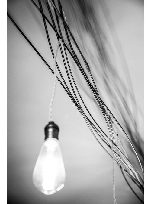 Fila di luci in acciaio spazzolato - Iron light