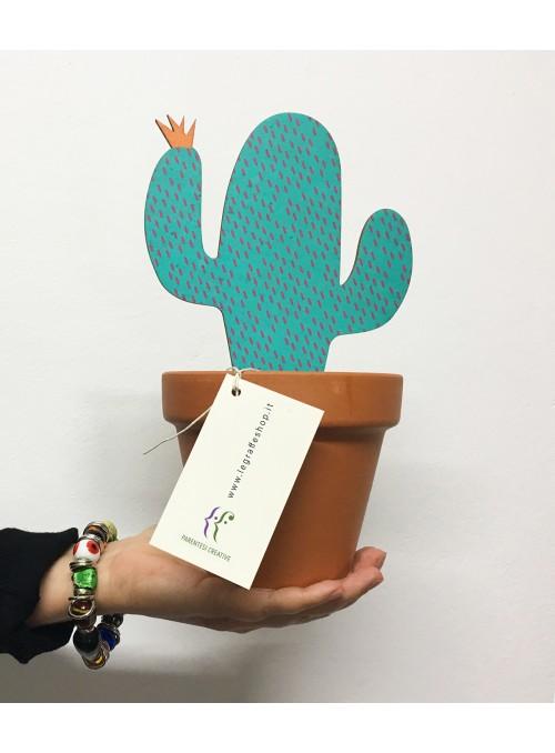 Cactus ornamentale in legno - Il Cactus Graffato