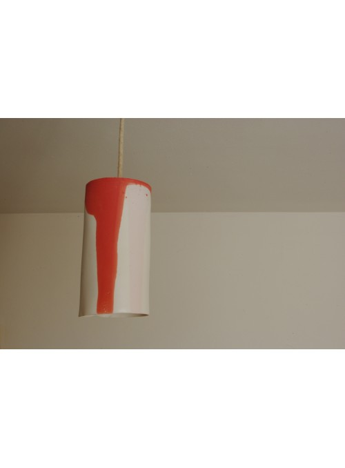 Design red ceramic ceiling lamp - Luciombre red