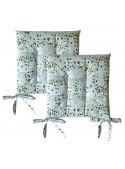 Set due cuscini per sedia in materiale eco friendly