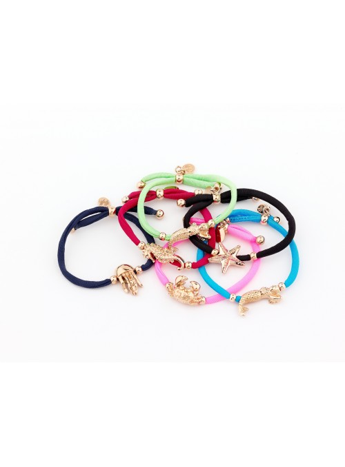 Elastic bracelet with golden plated bronze little animal - Di che umore sei?