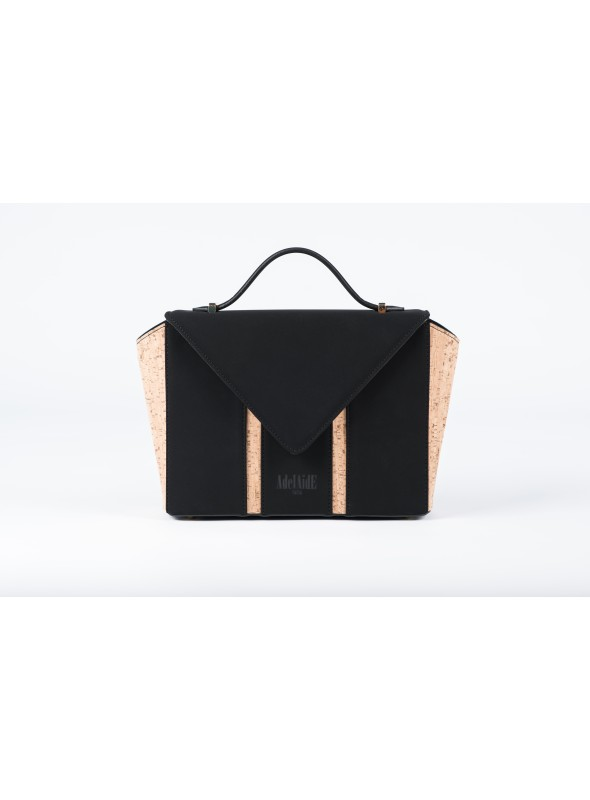 Small bag in nabuck and cork - Bighty Black & Cork