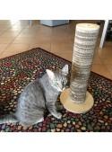 Scratching post in birch wood and cardboard - Minou