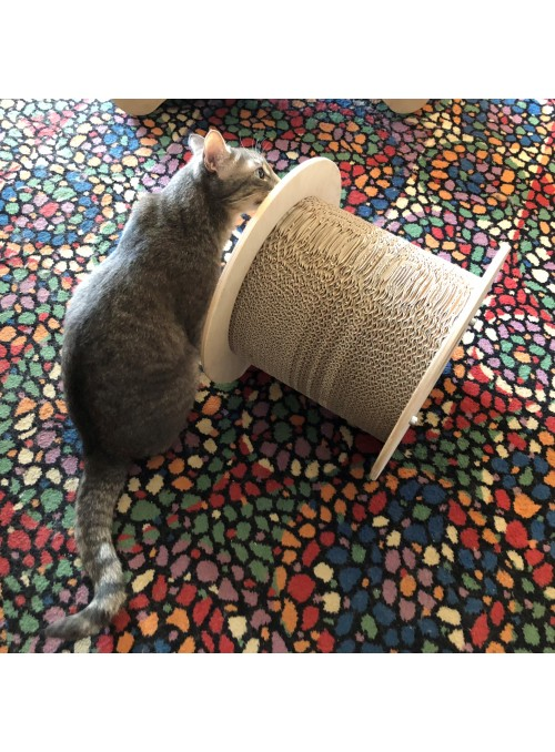 Scratching post in birch wood and cardboard - Bizet