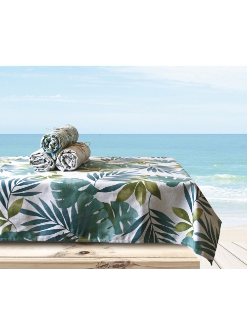 Squared tablecloth in eco friendly fabric