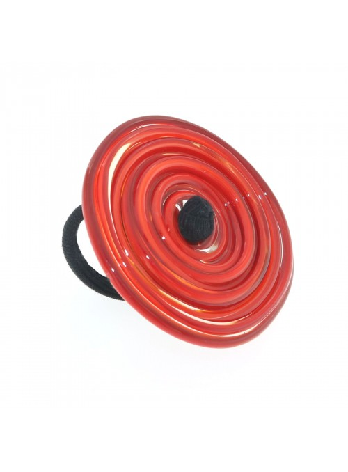 Ring in Murano glass - Vortice XL