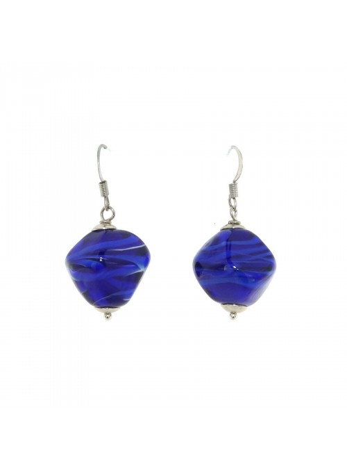 Pendant earrings in Murano glass - Stone