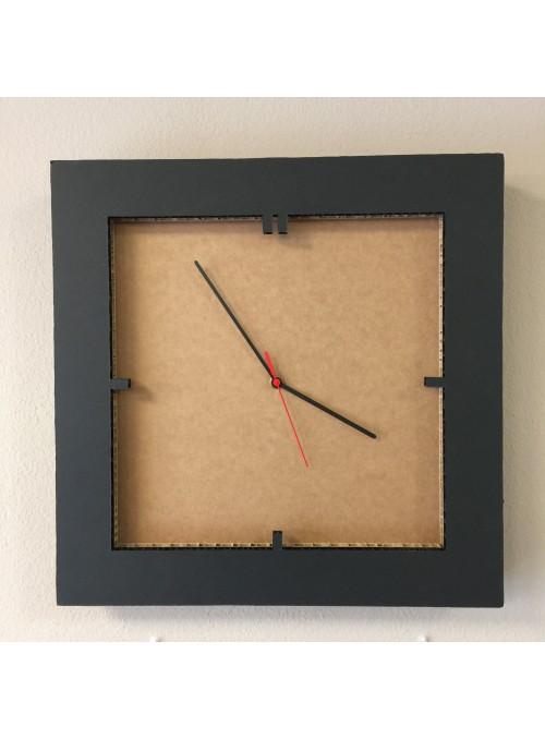 Honeycomb cardboard clock - Tempo Quadro