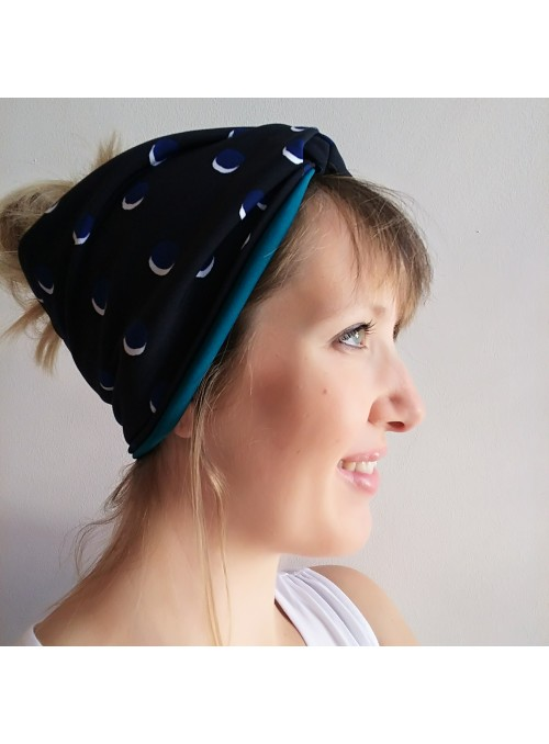 Turban band in colorful dot pattern