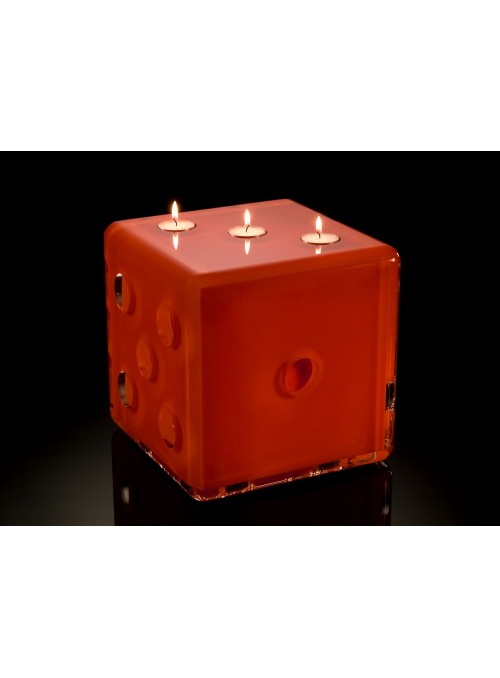 Dice shaped candle holder - Dada