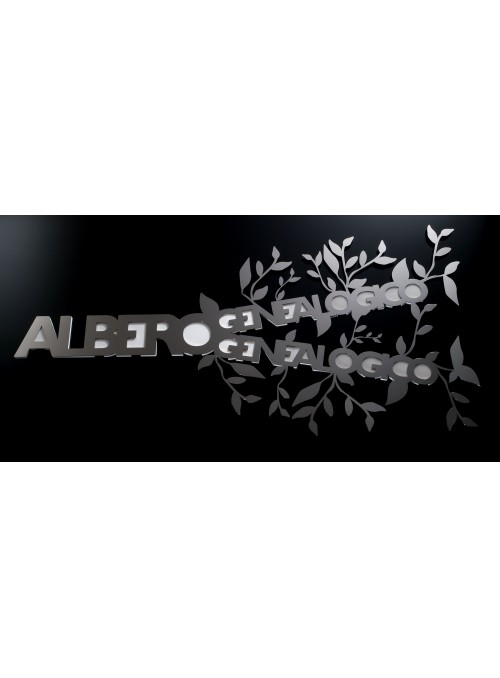 Stainless steel photo holder - Albero genealogico