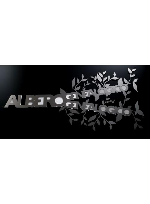Portafoto in acciaio - Albero genealogico