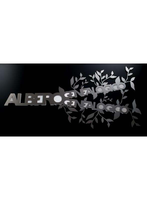 Stainless steel photo holder - Albero genealogico