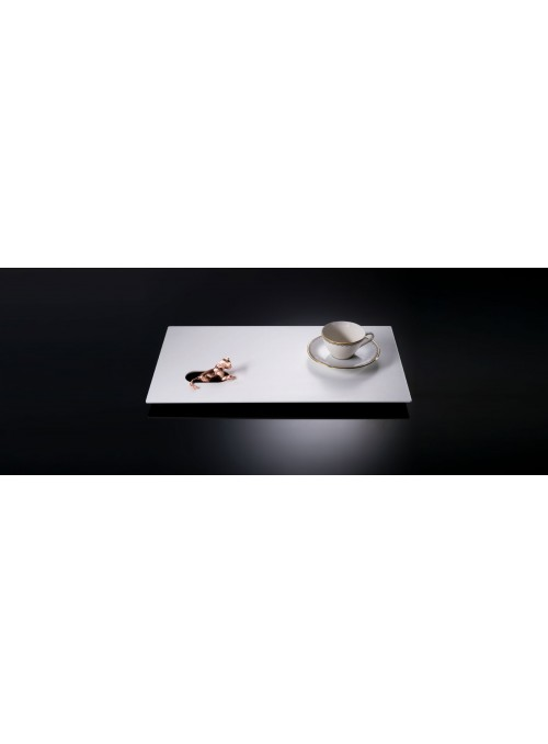 White and pink gold tray - Giorni da Leone