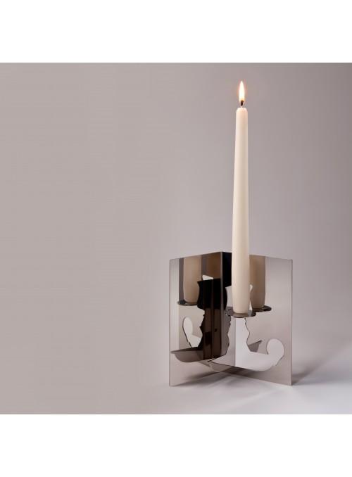 Porta candele in acciaio - Bugia
