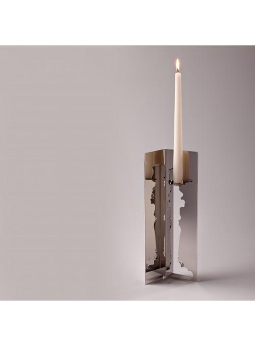 Porta candele in acciaio braccio singolo - Lumière