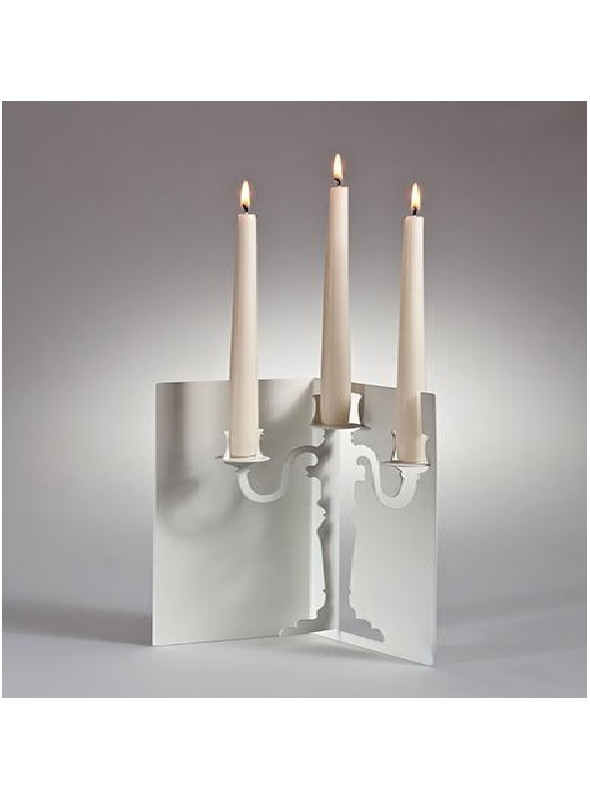 Candlestick made of steel - Lumière