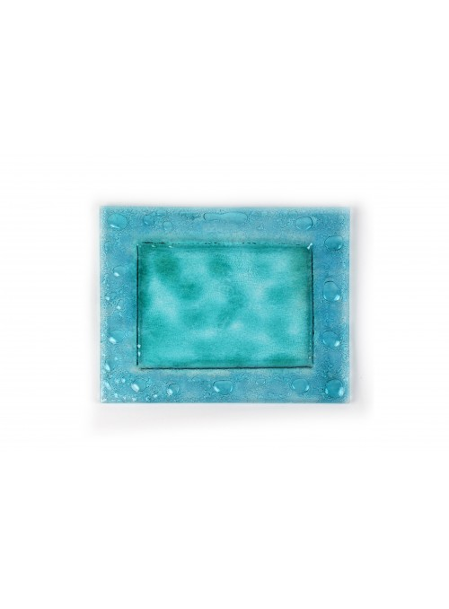 Rectangular plate in fusion glass - Laguna