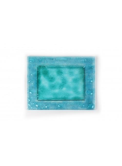 Piatto in vetro fusione rettangolare- Laguna