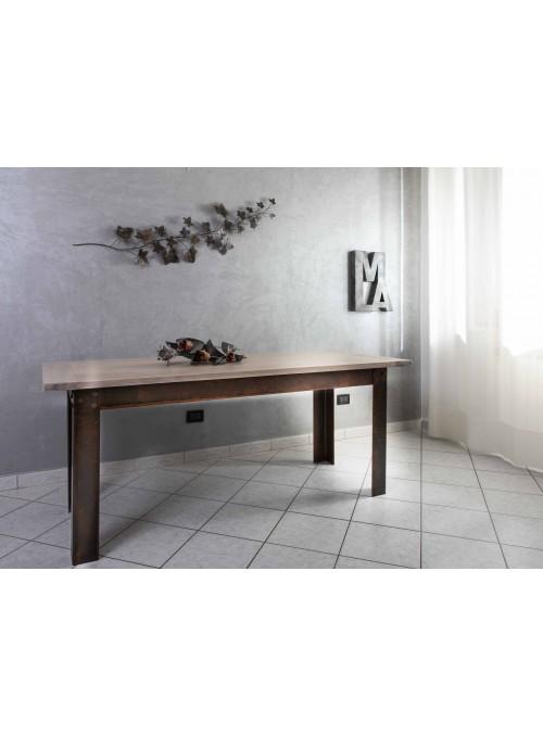 Tavolo in legno e ferro - Industrial