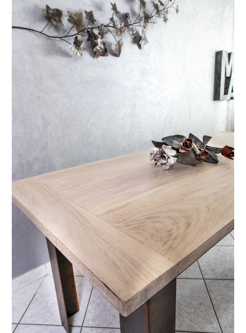 Wooden and iron handmade table - Industrial