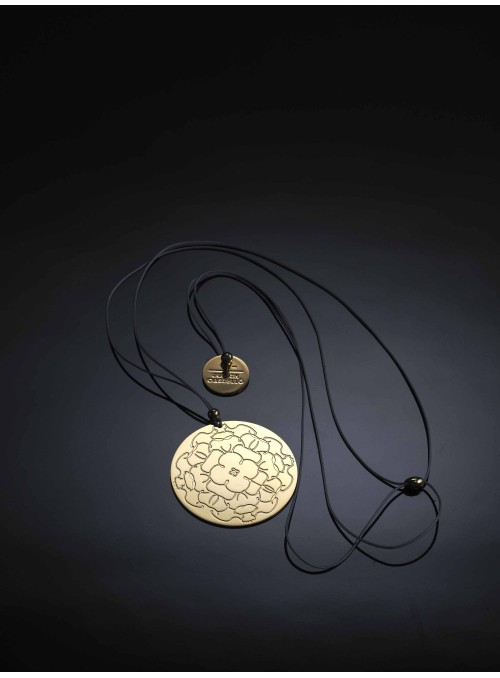 Brass and golden pendant - Peonia