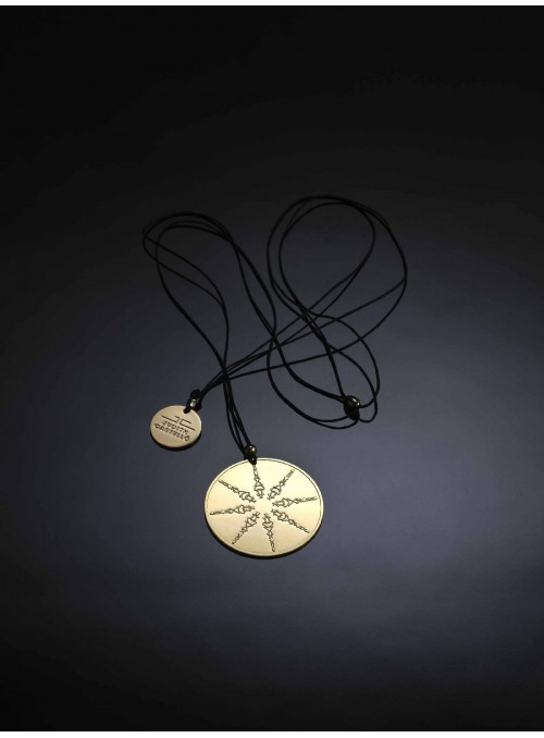 Brass and golden pendant - Horin