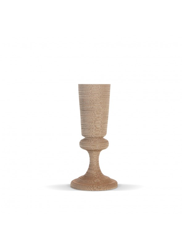 Elegante vaso di ecodesign in cartone - Flute