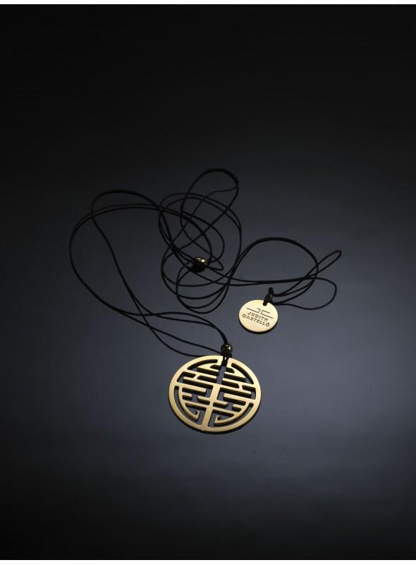 Brass and gold pendant - Tibet