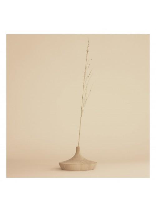 Porta fiore in legno di rovere
