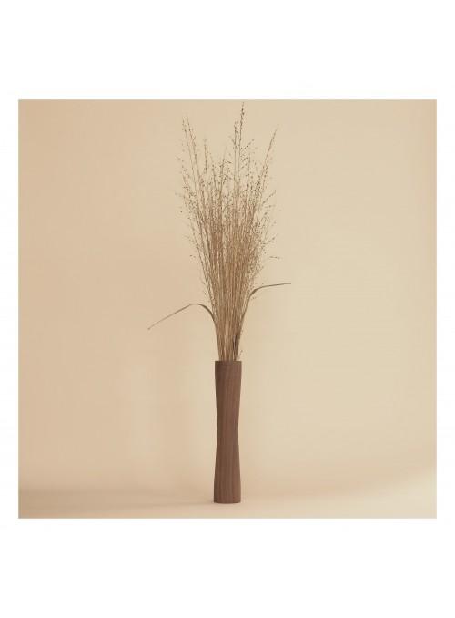 Walnut wood vase