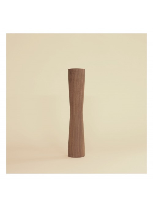 Walnut wood vase