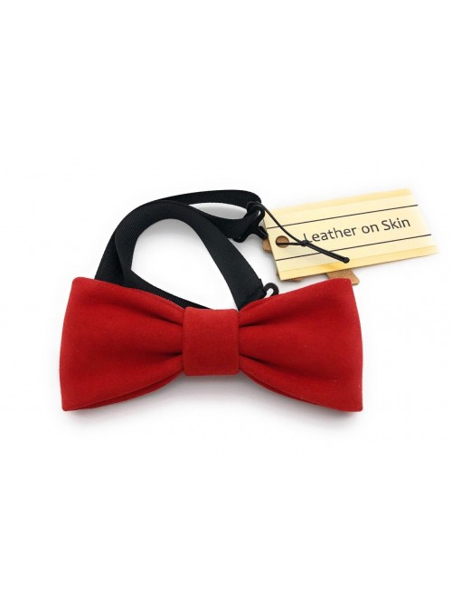 Real suede bow tie