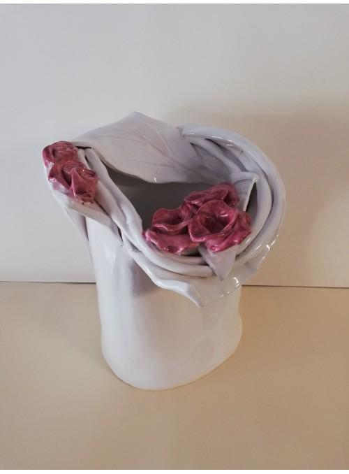 Vaso in terracotta - Boccioli rosa
