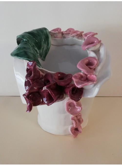 Earthenware vase - Fiori Vintage
