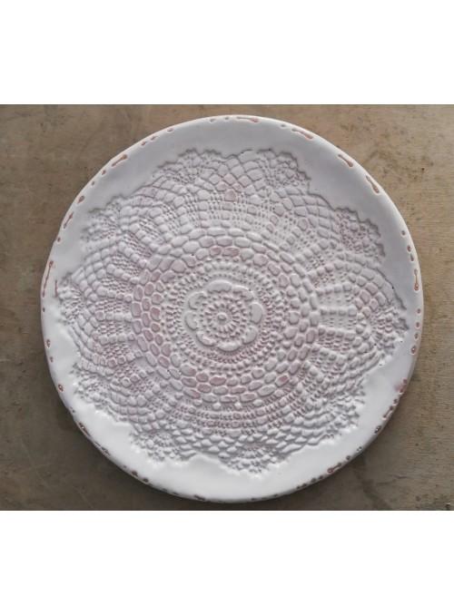 Earthenware decorative plate - Centrino Shabby