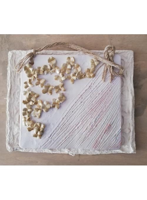 Decorative earthenware sheet - Fiori Shabby