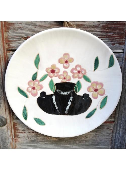 Earthenware decorative plate - Vaso di fiori