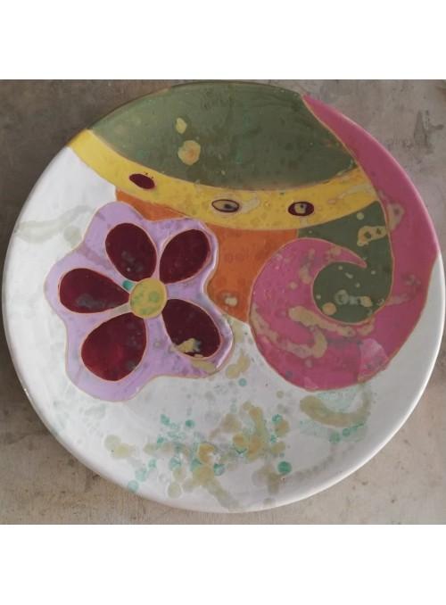 Earthenware decorative plate - Anni '70