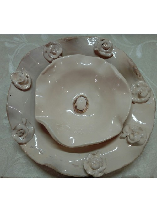 Two earthenware bowls set - Shabby