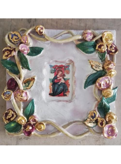 Earthenware votive aedicula