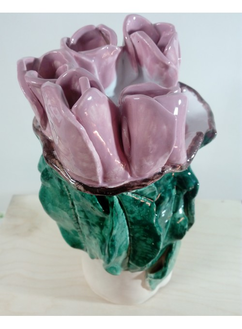 Vaso in terracotta - Tulipani