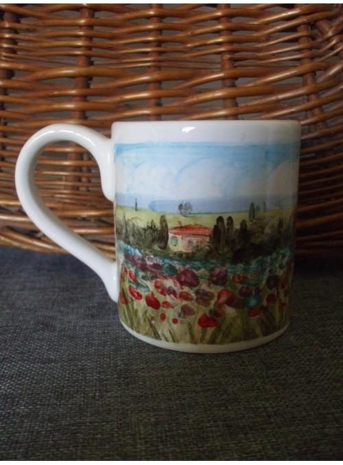 Ceramic mug - Paesaggio toscano