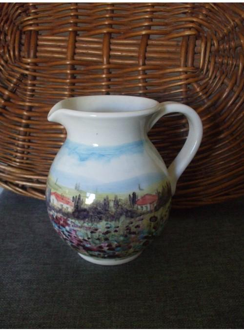 Brocca in ceramica - Paesaggio toscano