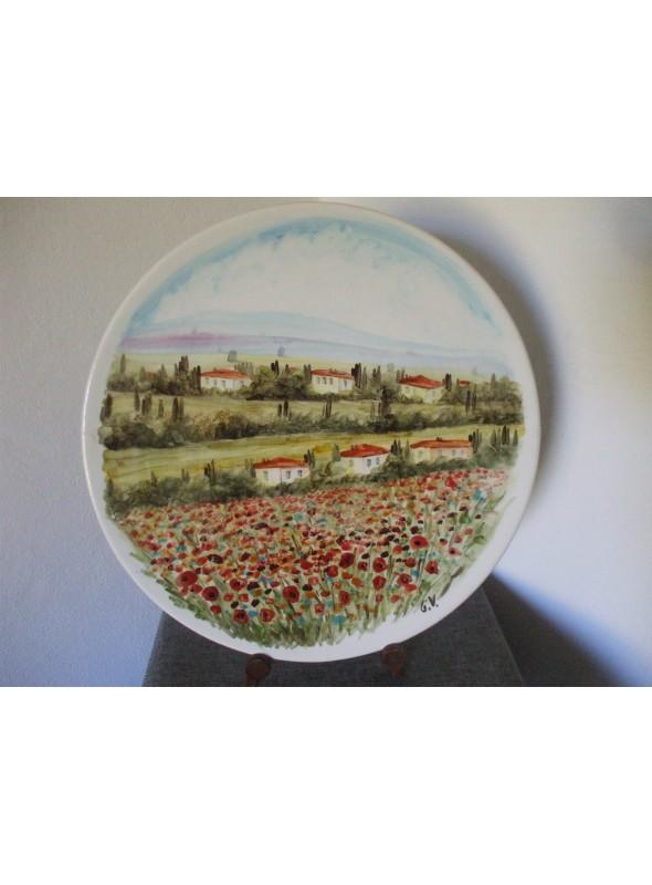 Ceramic plate - Paesaggio toscano