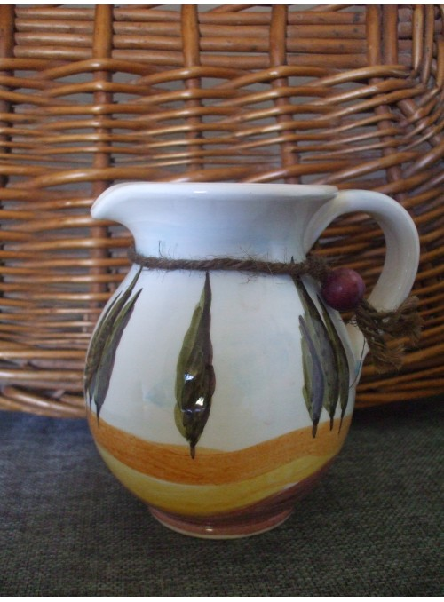 Small ceramic pitcher - Tuscany