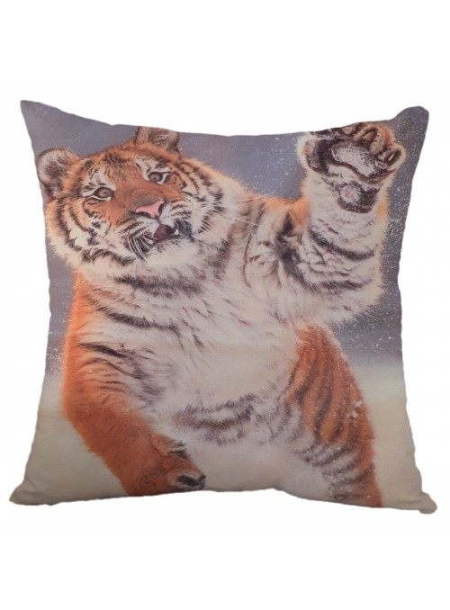 Squared cushion with tiger - Tigre