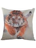 Squared cushion with a tiger - Tigre che corre